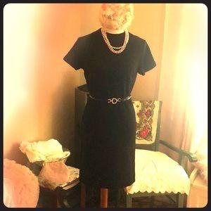 Vintage early 60's wiggle knit dress by Kandel EUC